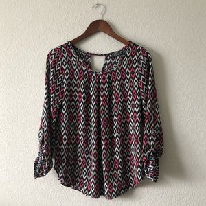 Papermoon StitchFix • Patterned textured blouse